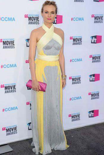 Diane Kruger 2012 Critics' Choice Awards #celebrities #celebrityfashion #redcarpet
