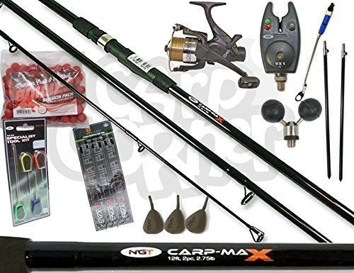 Carp Fishing Set Up With 12ft 3 Peice Rod Reel Bite Alarm And Tackle Bait This Set Is Ideal For The Angler Lo Carp Fishing Carp Fishing Rigs Coarse Fishing