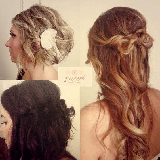 Loose Beachy Effortless Bridal Hair Bridal Hair: Wavy Wedding Hair, Brown Blonde And Twist Braids On Pinterest