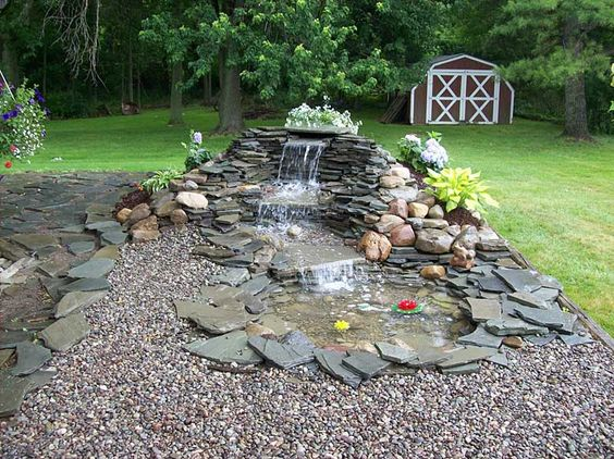 Small Pond Waterfall Ideas Landscaping Ponds