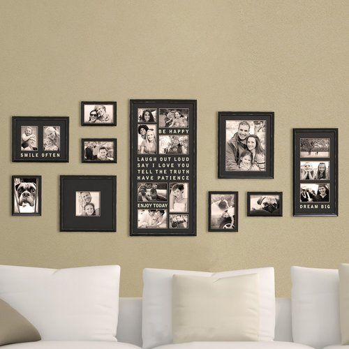 Gimenez 10 Piece Luxury Typography Picture Frame Set Photo Frame Wall Bar Wall Decor Frame Wall Decor