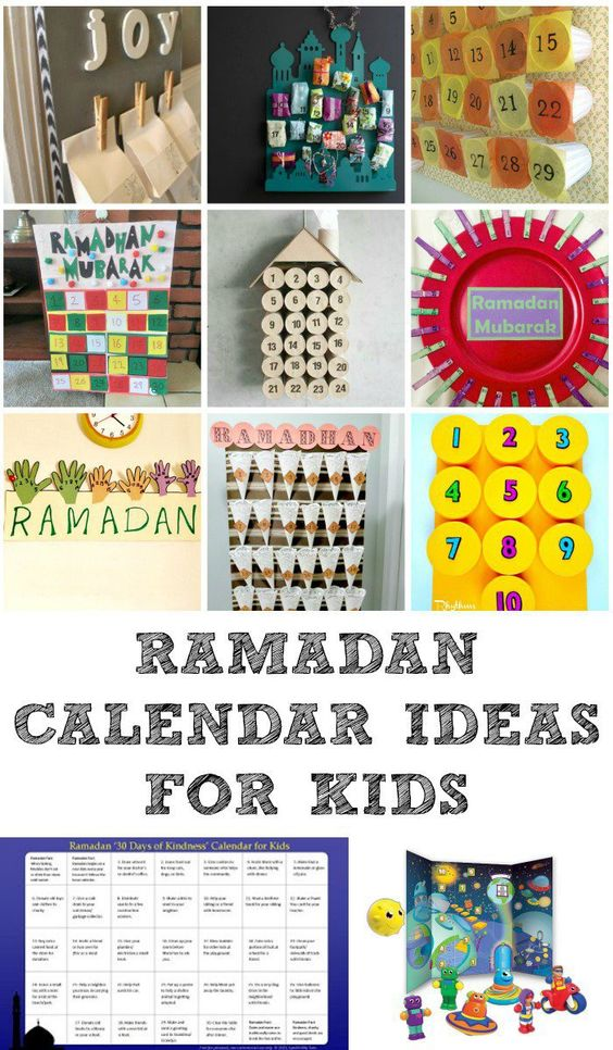 Diy Kids Calendar : Ramadan decorations and calendars kid diy advent
