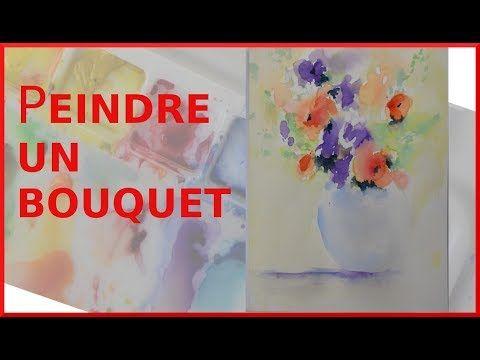 Debuter L Aquarelle Avec Un Bouquet Tout En Couleur Youtube