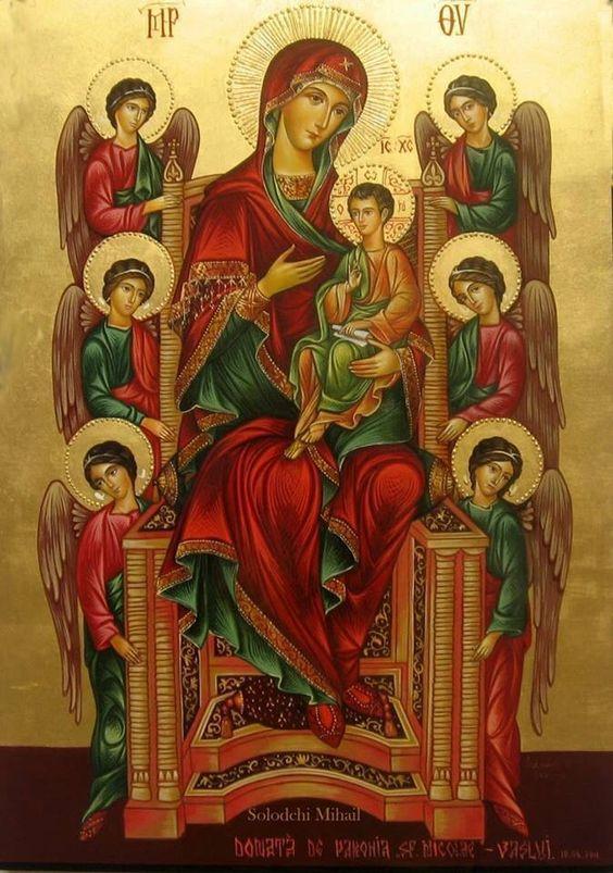 Theotokos, Jesus & the angels:
