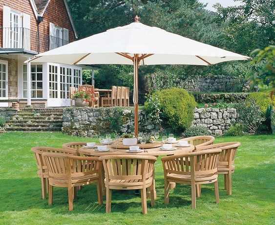 Titan Garden 8 Seater Teak Wooden Patio Dining Set #dining #garden #patio #teak #dining #gardenfurniture #furniture #corido