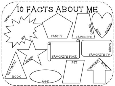 FREE 10 Facts About Me! Back to School from LearningandGrowing on TeachersNotebook.com -  (1 page)  - Get to know you activity