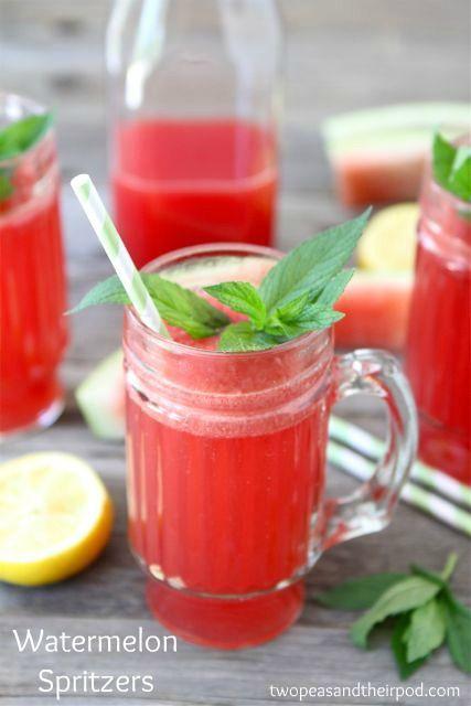 Watermelon Spritzers: just 5 ingredients!