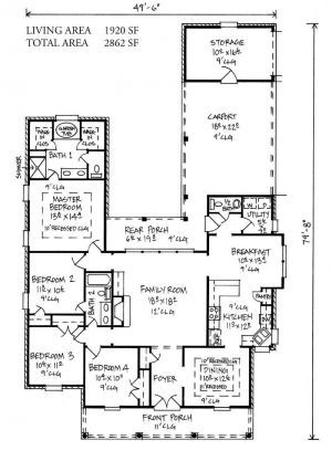 Livingston louisiana house plans acadian house plans for Acadian house plans louisiana