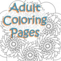 Adult Coloring Pages - I've checked some of these out.  They are awesome. I'd like to try some.