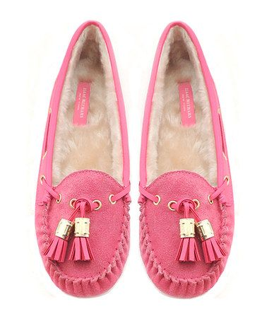 Take a look at this Pink Liberty Moccassin by Isaac Mizrahi New York on #zulily today!