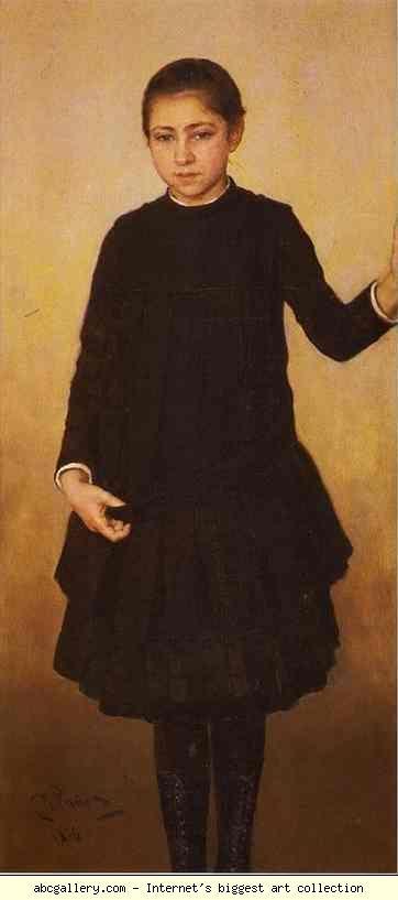 Ilya Repin. Portrait of Vera Repina,  the Artists Daughter. Olgas Gallery.