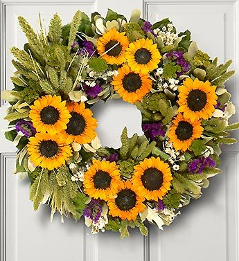 Sunflower Valley Wreath