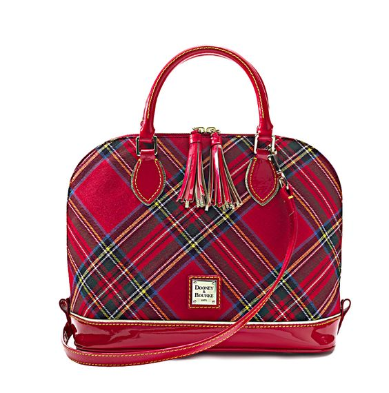 She'll go mad for this plaid Dooney & Bourke satchel: