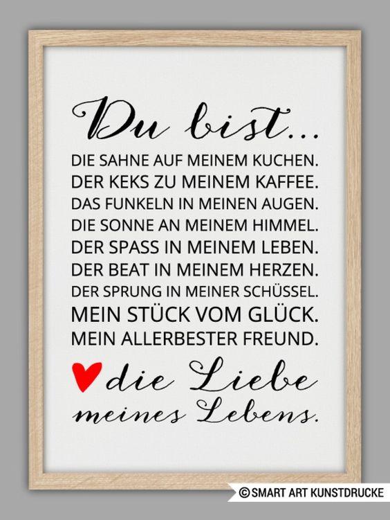 """Originaldruck - """"LIEBE MEINES LEBENS"""" Kunstdruck - ein Designerstück von Smart-Art-Kunstdrucke bei DaWanda"""