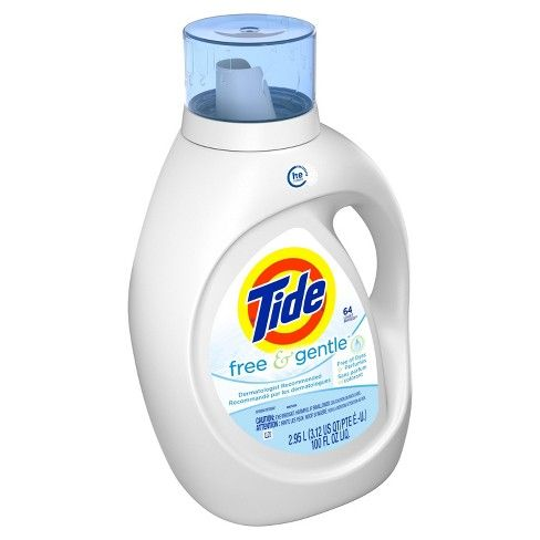 Tide Free He Liquid Laundry Detergent 92 Fl Oz With Images