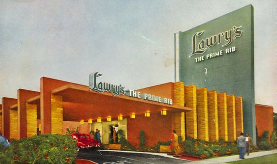 Lawry's The Prime Rib, Beverly Hills, 1948. (Flavorwire) Brooklyn and her family went to Lawry's for every big occasion. Now she goes with Bo.