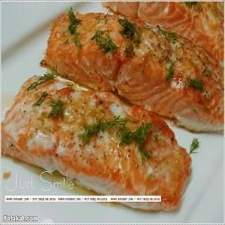 فتكات طبخ سمك سلمون مشوى مع صلصة الزبدة والليمون Recipe Helthy Food Cooking Recipes