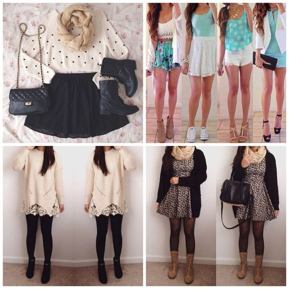 The Various Options For Cute School Outfits : Teen Casual Dresses ...