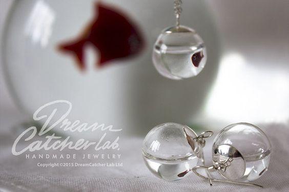 Verre orbes boucles d'oreilles et collier éco par DreamCatcherLab