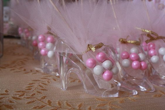 Cinderella inspired party glass slipper favors wbs