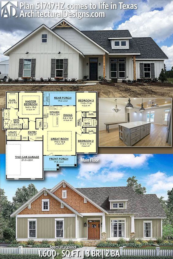 Plan 51747hz 3 Bed Craftsman With Optional Outdoor Kitchen With Images House Plans Farmhouse Craftsman House New House Plans