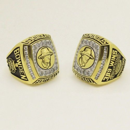 Custom 2010 FSU Florida State Seminoles Gator Bowl Championship Ring - Football