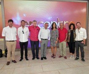 Ministro da Argentina visitou Fátima Bernardes logo após o Encontro (Foto: Priscilla Massena/Gshow)