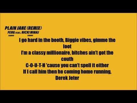 A Ap Ferg Plain Jane Ft Nicki Minaj Lyrics Remix Youtube Nicki Minaj Lyrics Lyrics Nicki Minaj