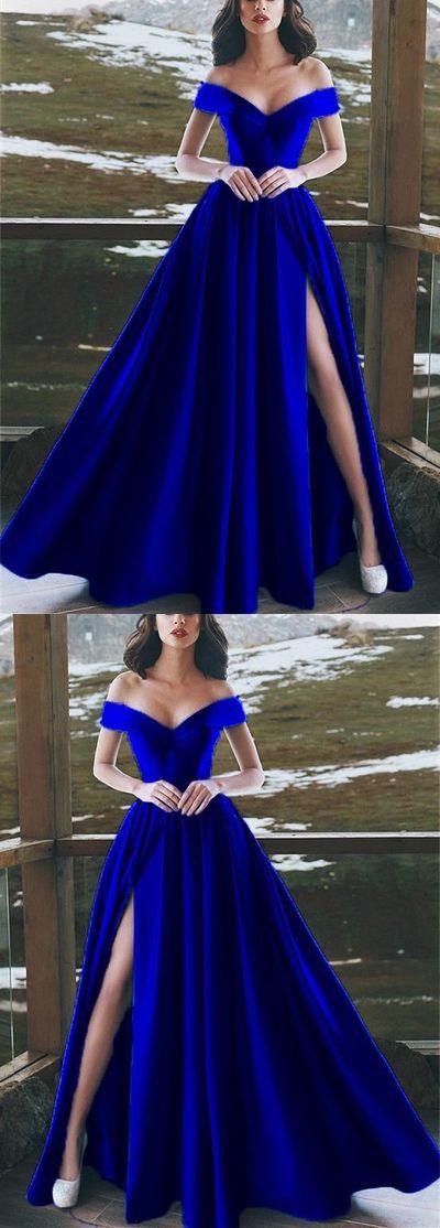 Burgundy Satin V Neck Long Prom Dresses Leg Split Evening Gowns Elegant V Neck Off The Shoulder Royal Blue Prom Dresses Prom Dresses Long Evening Gowns Elegant