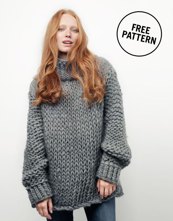 Free Knitting Patterns Chunky Jumper : Wonderwool Sweater by Wool and the GangxGood Housekeeping / FREE PATTERN ...