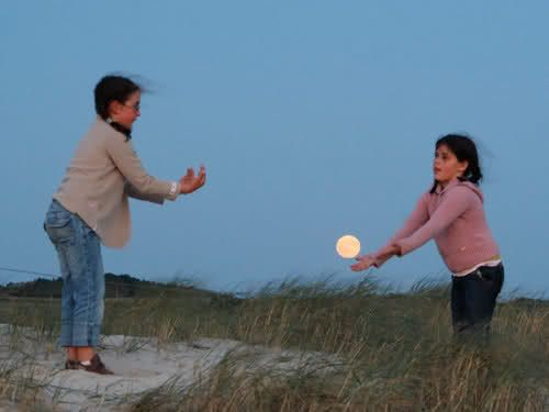 playing catch with the moon