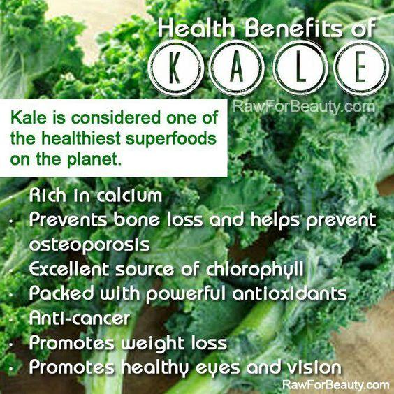I love Kale in green smoothies w banana splash of apple juice & scoop of Zeal Wellness. Yum!
