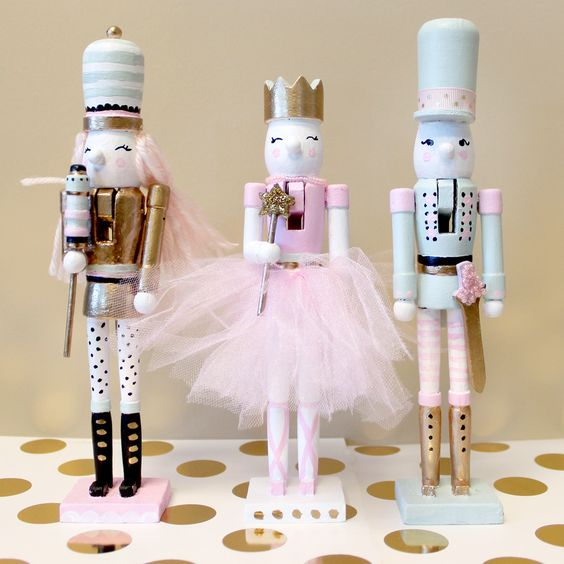 Dollar store nutcracker makeovers