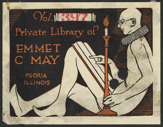 Book plate - May, Emmet C. (Emmet Claire), b. 1875 