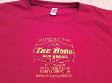 The Boro Bar Grill Restaurant Murfreesboro Tennessee Red T-Shirt Medium Gildan