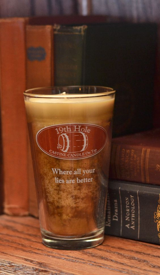 This candle radiates smell of freshly cut grass, just like you find at the golf course.