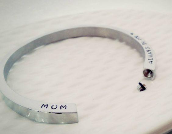 Personalized Cremation Urn Cuff Bracelet by NicNakPattyWack