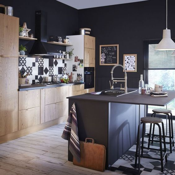 Ilot de cuisine  notre sélection de modèles pratiques et déco Ps - logiciel gratuit architecture maison