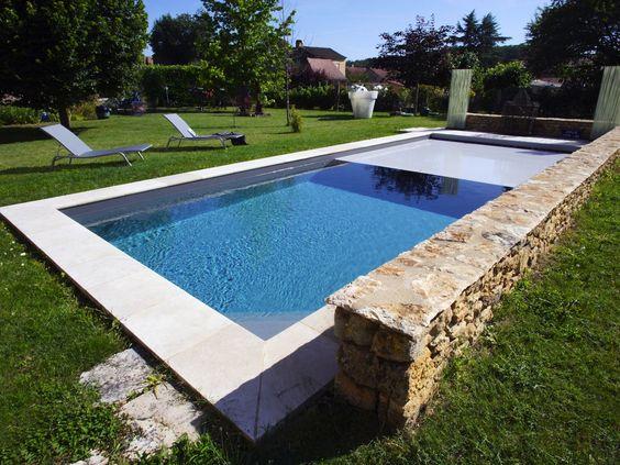 Lu0027esprit nature par lu0027esprit piscine  10 x 3,5 m  Revêtement noir