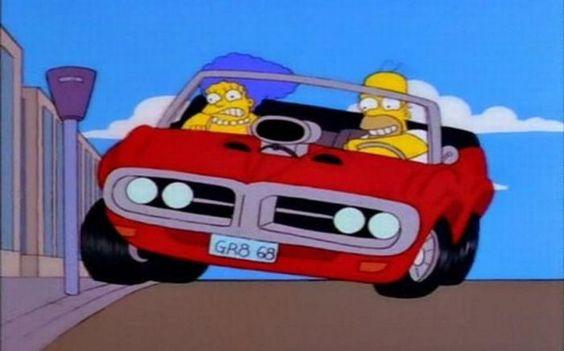 Los coches de Los Simpsons