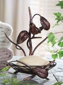 Shabby Cottage Chic Bird Nest Soap Holder
