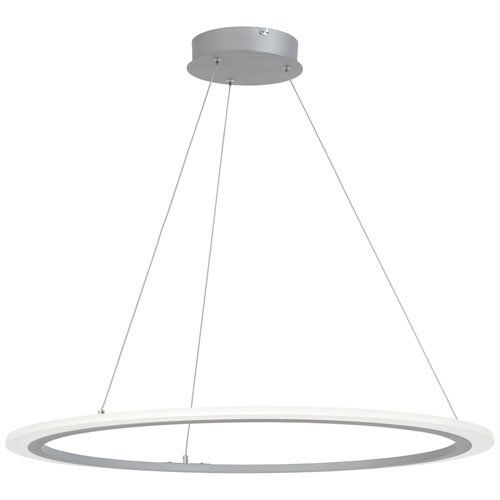 George Kovacs Lighting P8141 609 L Discovery 32 30w 1 Led Pendant Silver Finish With Acrylic Led Pendant Lights Pendant Light Styles Wagon Wheel Chandelier