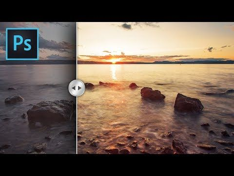 Quick Photoshop Tutorial How To Add Colors To Landscape In Photoshop Photoshop Photography Photoshop Landscape Photoshop Tutorial