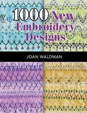 NEW 1000 New Embroidery Designs by Joan Sjuts Waldman Paperback Book (English) F