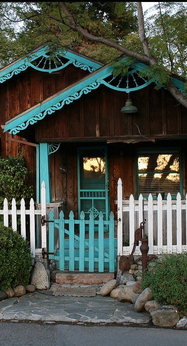 cabin with turquoise trim. - Google Search