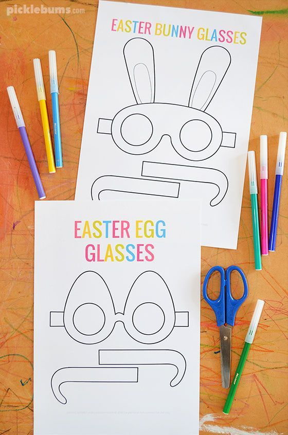 Crazy Fun Free Printable Easter Glasses Easter Crafts For Kids