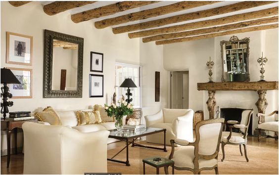 PLASTER WALLS AND BEAMS WITH ELEGANT CLASSIC SURROUNDINGS TG interiors: Home...Nesting