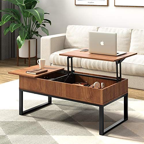 Wlive Wood Coffee Table With Adjustable Lift Top Table Metal Frame Hidden Storage Compa Coffee Table With Hidden Storage Coffee Table Convertible Coffee Table