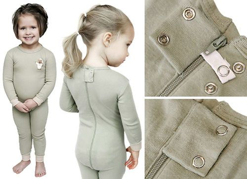 Little Keeper Sleeper - Zipper Back Children's Sleepers.  Helps to keep even the best of houdini's from escaping from their pajamas and ultimately their diapers - NO More Overnight Messes to clean up!!!!!