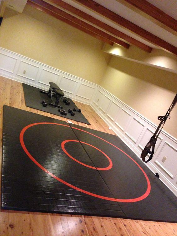 basement wrestling room